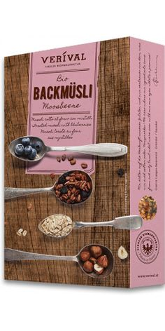 TOASTED MUESLI WITH BLUEBERRIES: Oat, barley and spelt flakes with a mixture of blueberries and hazelnuts. Lightly sweetened with a blueberry and honey purée, then gently toasted. 100% organic and wonderfully chewy.