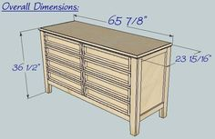 Ana White | Build a Hudson Dresser | Free and Easy DIY Project and Furniture Plans
