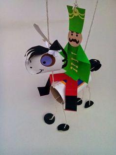 kreativgyermek: Ünnepi ló marionett