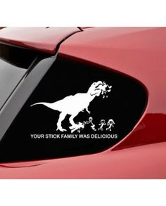Hungry T-Rex Car Decal! Buy one from our store (http://www.noroip.com/invented4you/shop-products/hungry-t-rex-car-decal/). Time to take the fight to the stick people. Show the rest of the road who's the boss with this Hungry T-Rex Car Decal! #dinosaur #car #sticker #window #decal #decals #stickers #t-rex #stickpeople #stick #people