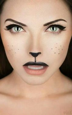 Unprepared for a last-minute Halloween party? Grab a creamy black eyeliner and/or lipstick and show some 'cat'-itude!