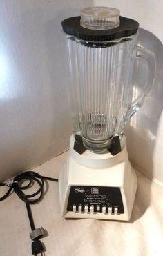 Vintage Waring Blender 1129 White Beehive Glass Pitcher 40 oz Tested Push Button #Waring