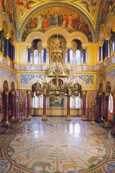 Throne Hall of Neuschwanstein Castle, Bavaria, Germany