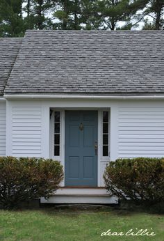 Jason's New Front Door Color by Dear Lillie BM Templeton gray in low lustre finish.