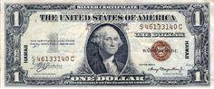 Hawaiian overprint  began in 1942 in case Japanese captured the currency