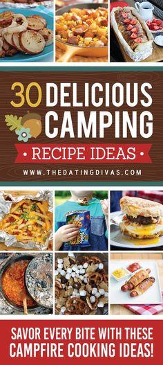 Camping Recipes- Fun Camping Food Ideas #campingmenu
