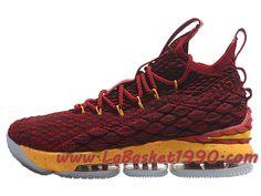 b5f7625cc25e3 Nike LeBron 15 XV Chaussures Nike Prix Pas Cher Pour Homme Officiel Basket  Rouge Jaune