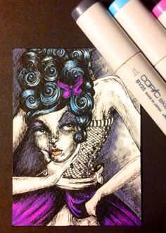 Beheaded Lady original art ACEO by SouthernSweetTea30 on Etsy, $12.00