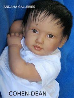 Reborn baby mannequin Cohen Dean created by master artist Andama Dujon