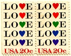 The StampLove Love Stamps My Funny Valentine, Valentines, All You Need Is Love, New Love, Going Postal, Postage Stamp Art, Love Days, Love Stamps, Mail Art