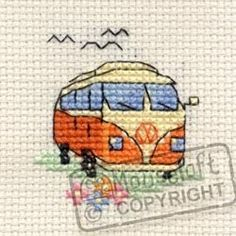 Mouseloft Mini Cross Stitch Kit - Camper Van, Stitchlets Collection, http://www.amazon.co.uk/dp/B00BJN80ZE/ref=cm_sw_r_pi_awd_.DT9rb1N7HYJ5