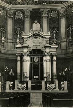 Tempio Maggiore di Roma (Great Synagogue of Rome) (William A. Rosenthall Judaica Collection - Postcards, College of Charleston Libraries) Synagogue Architecture, Religious Architecture, Art And Architecture, Jewish History, Jewish Art, Jewish Proverbs, Jewish Synagogue, College Of Charleston, Fear Of The Unknown