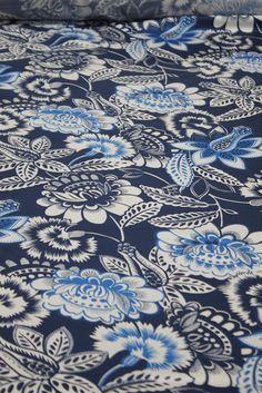 Blue Tropici - Silk - Tessuti Fabrics