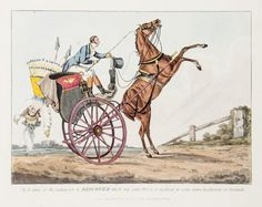 """1817 """"Driving Discoveries"""" [Alken (Henry)] – the set of 7 hand-coloured etchings by Henry Alken"""