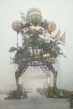 """Steampunk Flying Greenhouse: by La Machine 