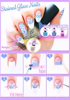 Stained Glass Nails Tutorial