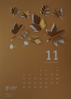 CUT OUT / wall calendar on Behance - foliow the link and see every month, they are all unique and beautiful!