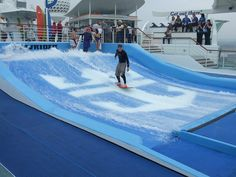 """Royal Caribbean Cruise Lines """"Liberty of the Seas"""" Flowrider surf park             I LOVE TO CRUISES WITH YOU"""