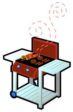 summer picnic outdoors clip art free vector 4vector aqua fest rh pinterest com clip art bbq grill clip art bbq ribs