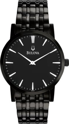 Men's Bulova watch from Goforth Jewelry in Miami, OK. Dress collection.  Offering the ideal basics for every occasion, with meticulous craftsmanship and innovative design, the Bulova Dress Collection includes the perfect bracelet or strap watches to go from morning to night in perfect style.