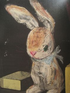 The Velveteen Rabbit - Art by Komako Sakai. (Source: Translated from the Japanese magazine Pooka + edition Komako Sakai) Art And Illustration, Art Illustrations, Lapin Art, Rabbit Art, Chalk Drawings, Bunny Art, Chalk Art, Book Art, Sketches