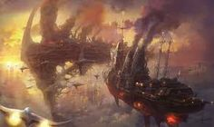 Image result for steampunk ship sea