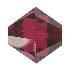 5328 6mm Ruby Swarovski Elements Crystal Bicone Bead | Fusion Beads