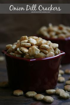 Onion Dill Oyster Crackers from JensFavoriteCookies.com  -  Great for parties, quick and easy to make!