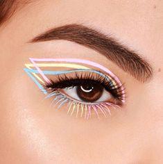 Makeup Eye Looks, Eyeliner Looks, Cat Eye Makeup, Cute Makeup, Makeup Art, Makeup Eyeshadow, Simple Eyeliner, Natural Eyeshadow, Lipstick Dupes
