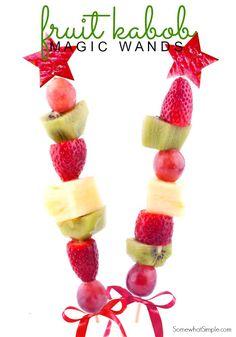 Fruit Kabob Magic Wands- Somewhat Simple