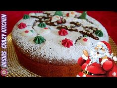Vasilopita Cake, Christmas Sweets, Christmas Recipes, Cupcake Cakes, Cupcakes, Cookie Frosting, Few Ingredients, Food To Make, Cake Recipes