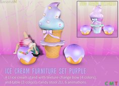 Icecream furniture set available in Second Life