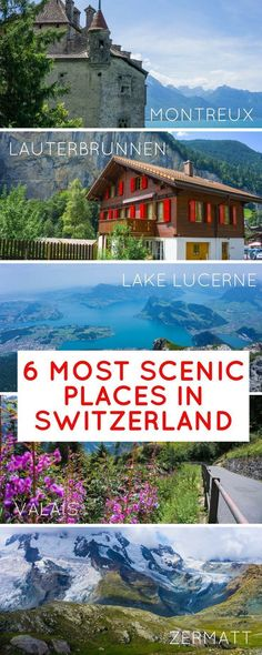 All the most stunning places in Switzerland in summer Lucerne the Matterhorn and Zermatt Interlaken the Alps the Valais Lauterbrunnen Montreux & more and ideas on things to do & how to best get around by train. Backpacking Europe, Europe Travel Tips, European Travel, Travel Destinations, Switzerland Summer, Switzerland Vacation, Switzerland Interlaken, Swiss Switzerland, Best Places In Switzerland