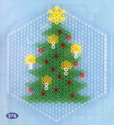 Christmas tree hama perler pattern