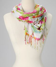 Another great find on #zulily! Pink Painted Rose Scarf #zulilyfinds