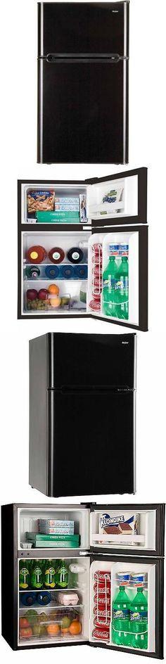 Mini Fridges 71262: Haier 3.2 Cu Ft 2 Door Refrigerator, Black  U003e