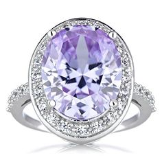 Lavender CZ Oval Cut Cocktail Ring -- Check out the image by visiting the link.