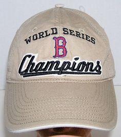 f7cb41698de Boston Red Sox MLB Baseball World Series Champions Khaki Strapback Hat  MLB   BostonRedSox Strapback
