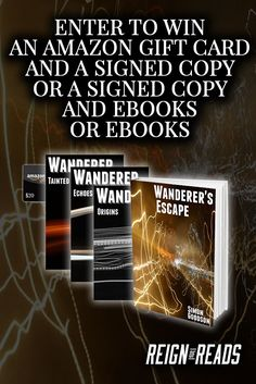 Win Signed Copies, a $20 Amazon Gift Card, eBooks or Swag Packs from Author Simon Goodson