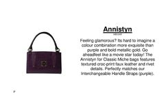 If you see anything you like and are interested / would like more information / would like to know how you can earn free product!!!   Contact me: unique.chic.handbags@gmail.com  Website: www.homepartyrep.com/amanda_boitson   Follow me on facebook: Amanda Boitson - Independent Miche Representative