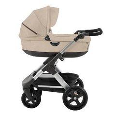 Capazo + Chasis Stokke ® Trailz beige melange - Coches de Paseo - 2 piezas: Capazo y Silla - El Corte Inglés - Bebés