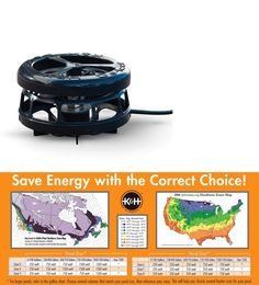K&H Deluxe Perfect Climate Pond De-Icer Floating or Submersible 250 Watt Fish Pond Supplies, Water Type, Zone 5, 3 In One, Save Energy, Conditioner, Ebay
