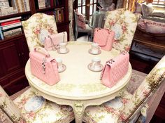 The perfect tea party to include a handbag