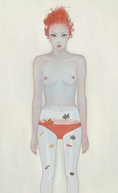 Modern Oriental painting by jo in hyuk, via Behance