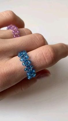 Diy Beaded Rings, Wire Jewelry Rings, Wire Jewelry Designs, Beaded Jewelry, Jewellery, Diy Rings Easy, Diy Bracelets Easy, How To Make Rings, Diy Jewelry Unique