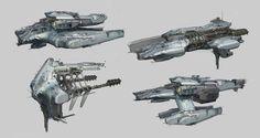 ArtStation - fractured space ships, long ouyang