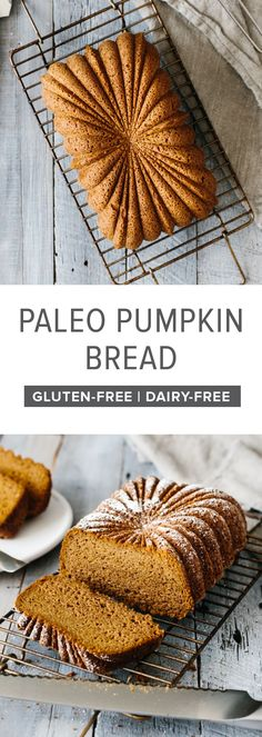 This paleo pumpkin bread recipe is a staple for the holidays. It's gluten-free, dairy-free, extremely moist, deliciously spiced and smells amazing. #PaleoPumpkinBread #PumpkinBreadRecipe