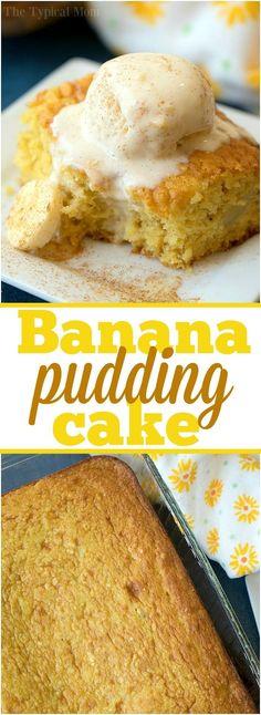 The best banana pudding cake you'll ever make! Loaded with ripe bananas and a to… The best banana pudding cake you'll ever make! Loaded with ripe bananas and a touch of cinnamon this easy cake turns out moist and delicious every time. Easy Desserts, Delicious Desserts, Pudding Desserts, Easy Pudding Recipes, Trifle Desserts, Easy Banana Pudding, Fruit Recipes, Cake Recipes, Banana Dessert Recipes
