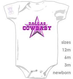 Dallas Cowboys Cowbaby Girl Onesie by ucrew on Etsy