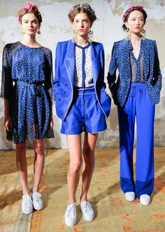 Blue Pajama Suit |  Blue Color Trends forSpring Summer 2013.  Nonoo Spring Summer 2013.   #Fashion #Trends